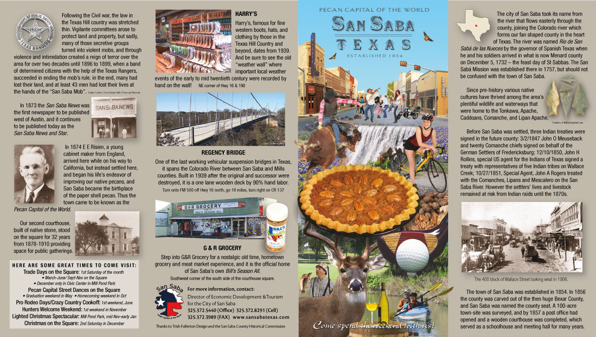 San Saba Attractions Card Outside
