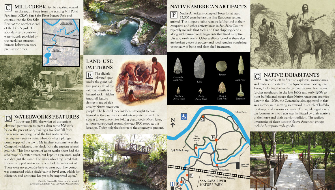 San Saba River Nature Park - Rack Card - Inside View