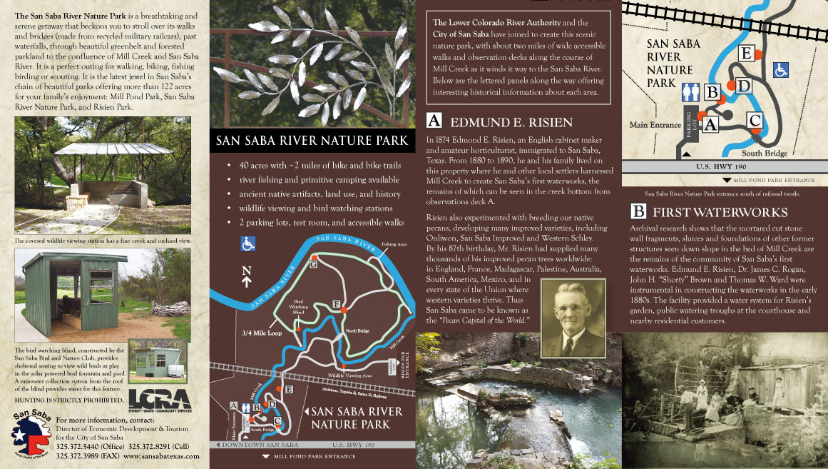 San Saba River Nature Park - Rack Card - Outside View