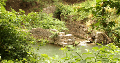 San Saba River Nature Waterworks Remains