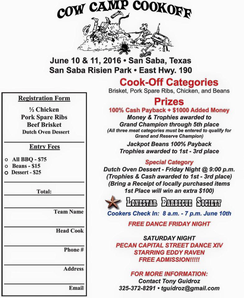 2016 Cow Camp Cookoff @ Risien Park | San Saba | Texas | United States