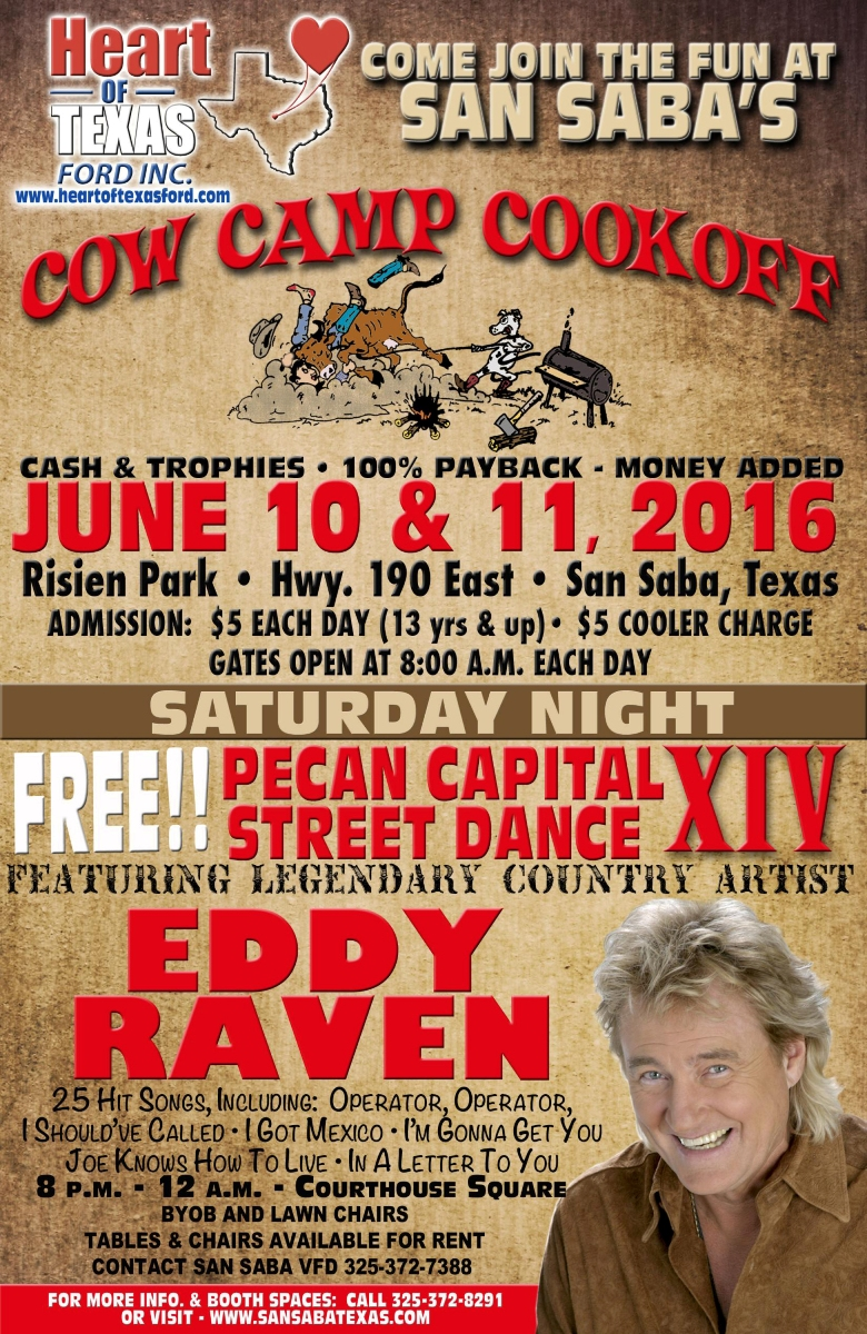 Cow Camp Cook Off & Pecan Capital Street Dance XIV @ San  Saba County Courthouse Square | San Saba | Texas | United States