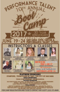 Performance Talent Boot Camp @ Performance Talent | San Saba | Texas | United States