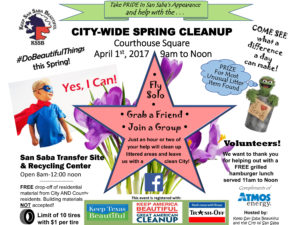 KSSB City-Wide Spring Cleanup @ San Saba County Courthouse | San Saba | Texas | United States