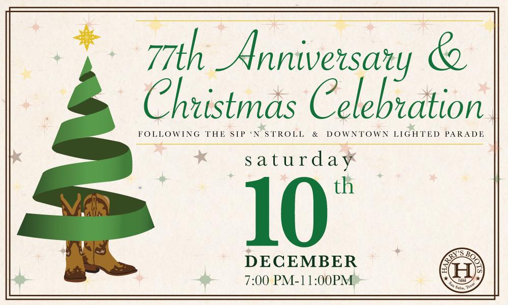 Harry's Christmas Celebration @ Harry's Boots | San Saba | Texas | United States