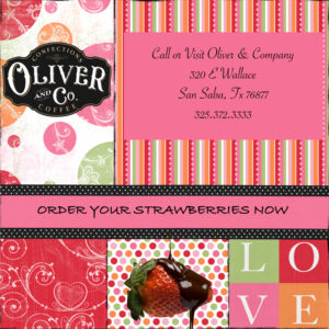 Oliver & Co Valentine's Day Chocolate Covered Cherries @ Oliver & Company | San Saba | Texas | United States