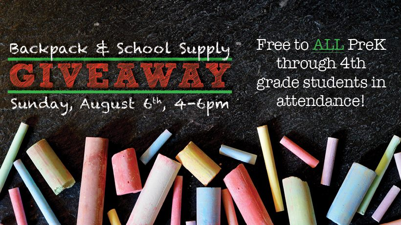 First Baptist Church Backpack & School Supply Giveaway @ San Saba First Baptist Church | San Saba | Texas | United States