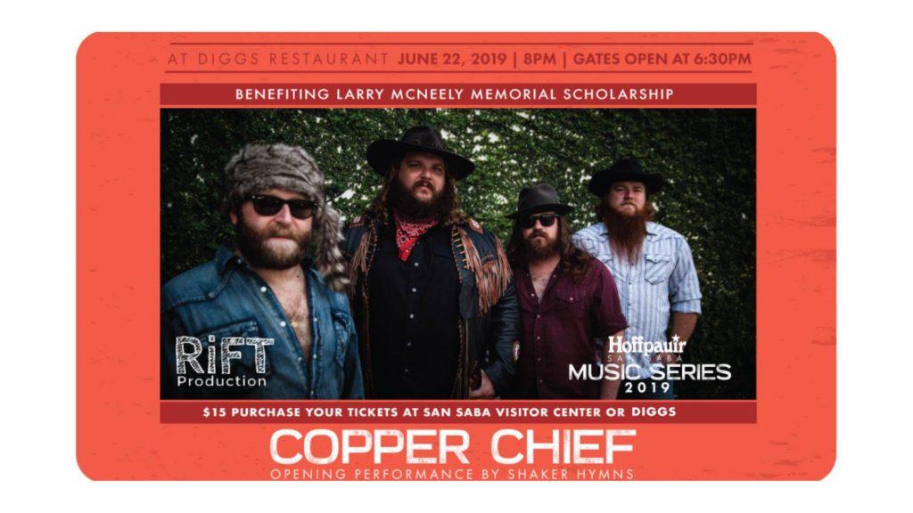 Hoffpauir San Saba Music Series - Copper Chief @ Diggs Restaurant & Club | San Saba | Texas | United States